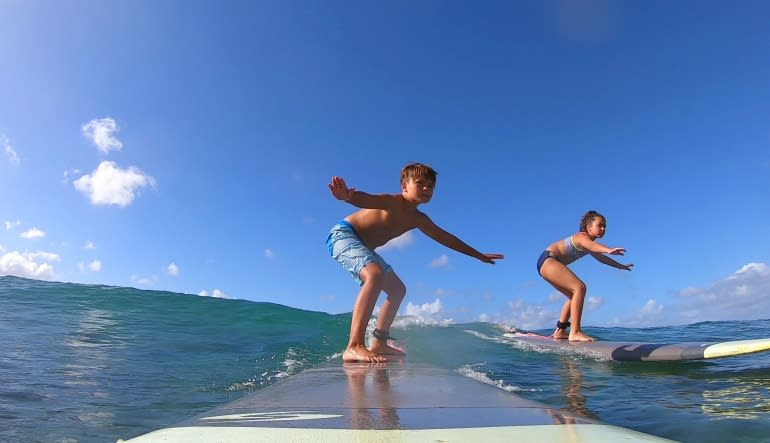 Semi-Private Surf Lesson Oahu - 1 Hour (Groups of 2)