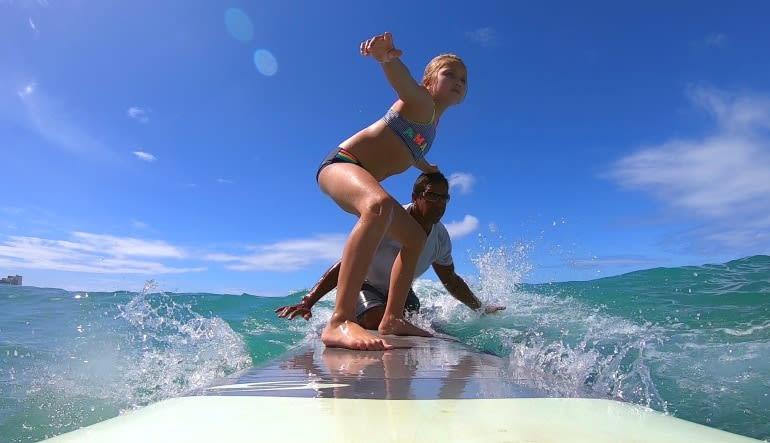 Tandem Surf Lesson Oahu - 1 hour