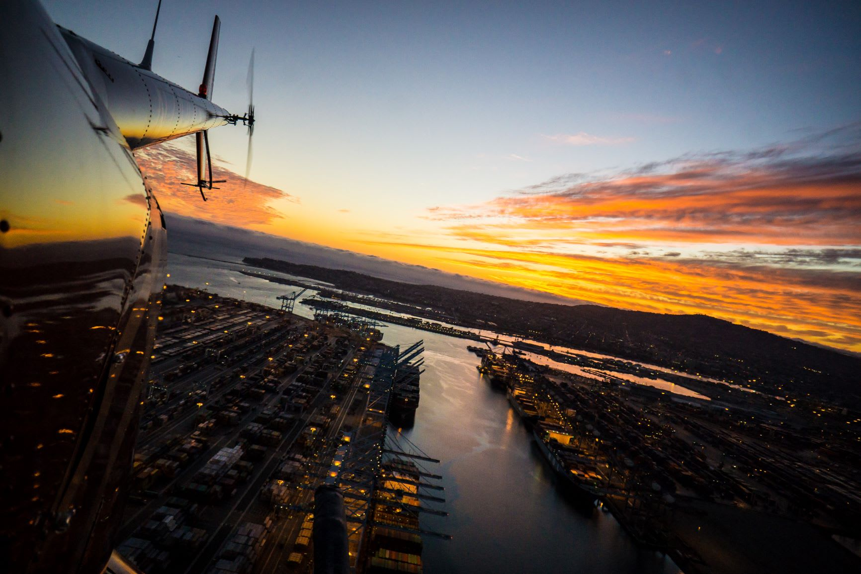 World Harbor at Sunset