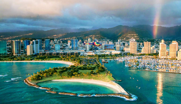 Helicopter Tour Oahu Doors Off or On - 20 Minutes