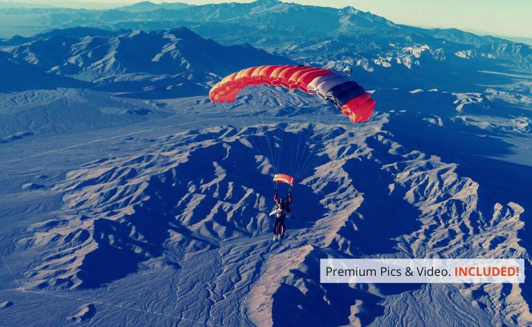 Las Vegas Tandem Skydive, Premium Access with Photos & Video