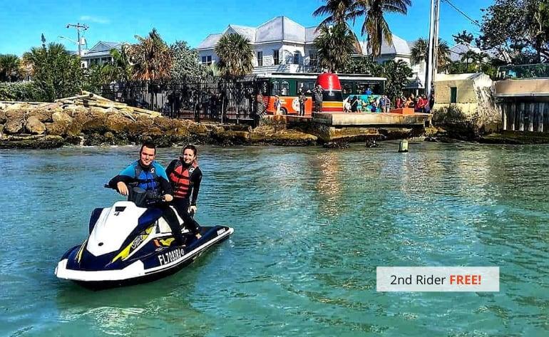 Jet Ski Tour Key West at Cow Key - 1.5 Hours