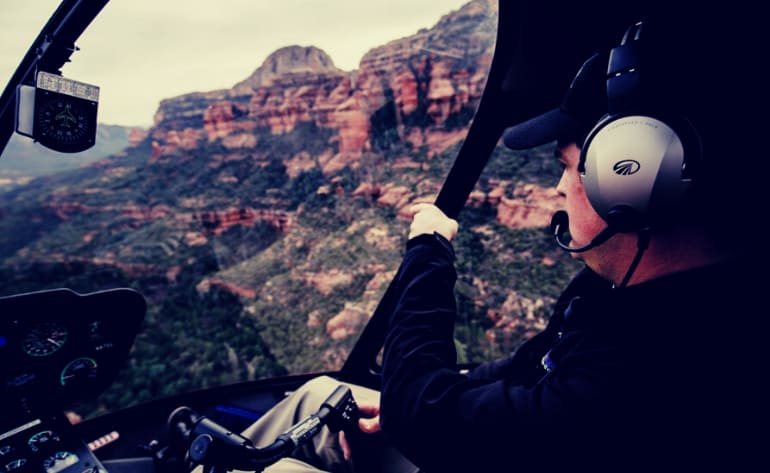 Private Helicopter Tour Sedona, Wild West Tour - 50 Minutes