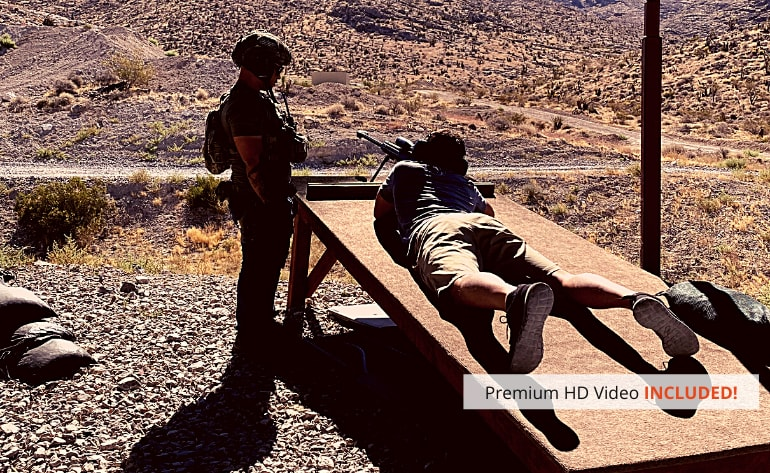 Las Vegas Aerial Shooting and Range Experience Combo