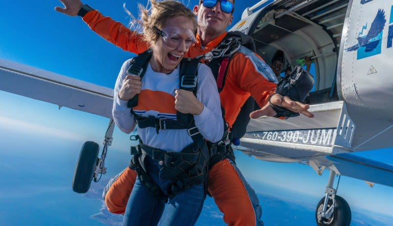 San Francisco, Santa Cruz Tandem Skydive, Premium Access with Photos & Video