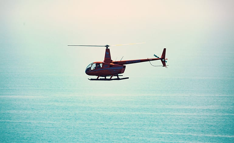 Private Helicopter Tour Newport Beach, OC Surf Spots - 45 Minutes