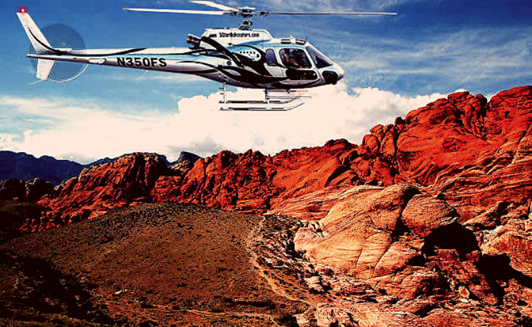Sunset Red Rock Canyon State Park Helicopter Tour - 30 mins