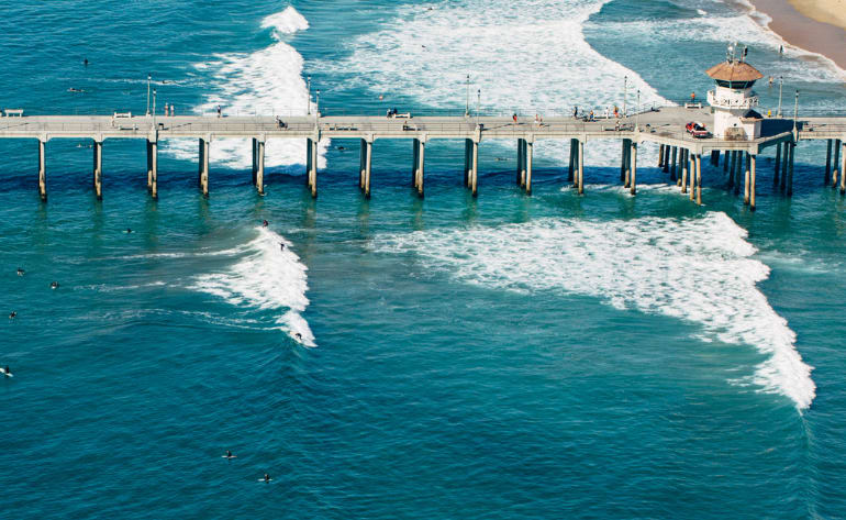 Helicopter Tour Newport Beach, OC Surf Spots - 45 Minutes