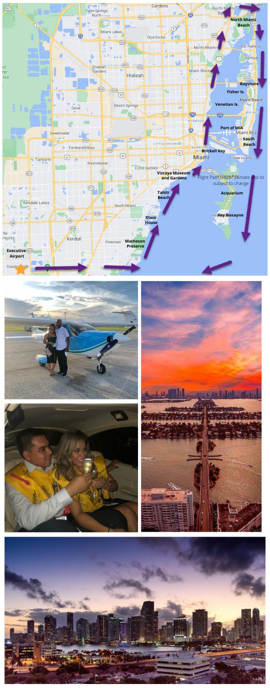 South Beach Sunset Scenic Flight Tour 60 Mins