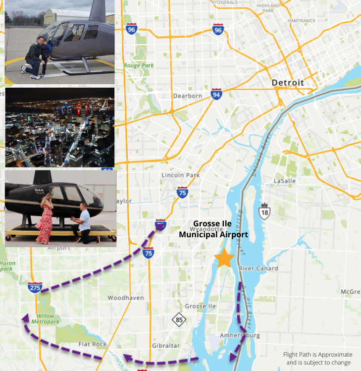 Private Helicopter Tour Detroit - 30 Minutes