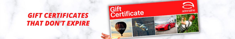 Adrenaline Gift Certificates