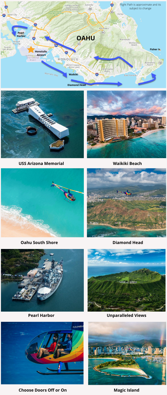 Doors Off or On Oahu Helicopter Tour