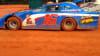 Dirt Track Racing Blue & White Car