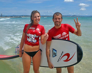 Surfing, Learn to Surf Group Lesson, Coolangatta Beach - Gold Coast
