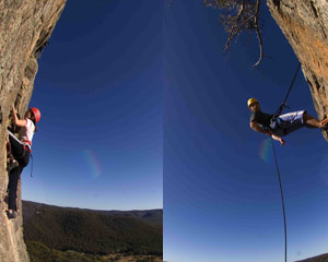 Half Day Rock Climbing, Half Day Abseil, Introductory - Blue Mountains