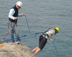 Abseiling Forward - The Bluff, Adelaide