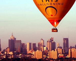 Hot Air Balloon Melbourne CBD, Weekend City Flight (Flight Only)