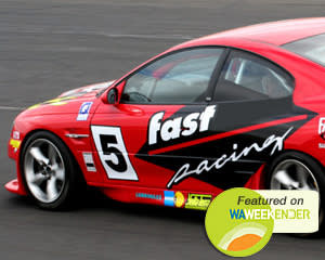 V8 Race Car Ride (FRONT SEAT!) - Barbagallo, Perth