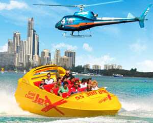 Jet Boat Ride & Helicopter Flight - Surfers Paradise, Gold Coast