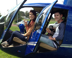 Hunter Valley Scenic Helicopter Flight and Champagne Lunch Fly & Dine - For 2