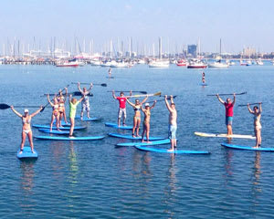 Stand Up Paddle Boarding St Kilda, 1.5-Hour Group Session - SPECIAL SAVE 25%