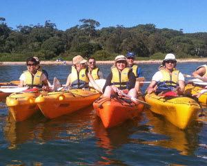 Half Day Double Kayak Hire, 4hr - Bundeena, Sydney FOR 2 PEOPLE