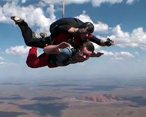 Skydiving Over Uluru