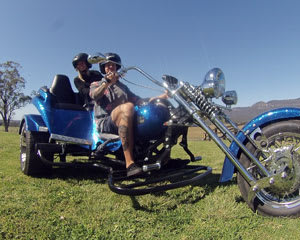 Trike Ride for 2, 90 Minute Hunter Valley Sunset Trike Tour with Cheese and Wine