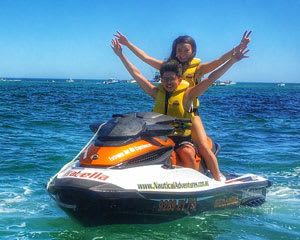 Jet Ski Hillarys, Ocean Blast Tour 60 Minutes - Perth (RIDER PLUS PASSENGER) No licence required!