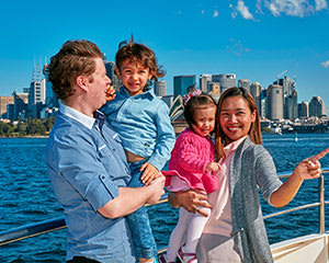 Hop On Hop Off Sydney Harbour Explorer Cruise (2 Adults & 2 Children)