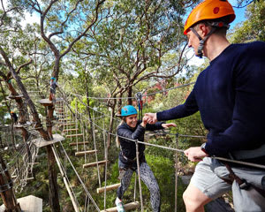 Tree Surfing and Farm Produce Lunch and Wine for 2 - Mornington Peninsula