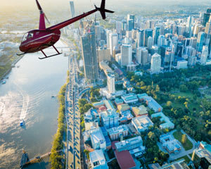 Helicopter Flight, Scenic Tour Of Brisbane CBD - 12 Minutes - For Up to 3 People