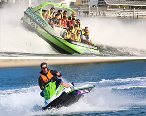 Jet Boat ride & Jet Ski Hire for 2, Action Packed 1.5  Hour Adventure - Gold Coast - EOFY SPECIAL!