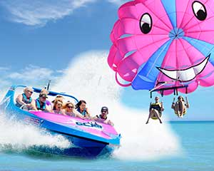 Gold Coast Parasail and 55 Minute Jet Boat Thrill Ride - For 2