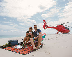 Private Helicopter with Picnic and Sparkling, For 2 - Great Barrier Reef