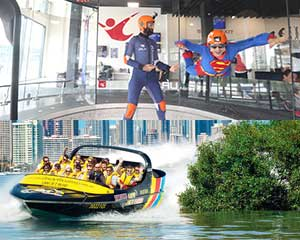 Express Jet Boat Ride and iFLY Indoor Skydiving Combo