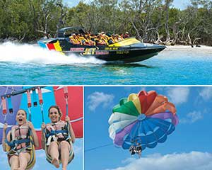 Express Jet Boat Ride and 10mins Parasail Combo For 2