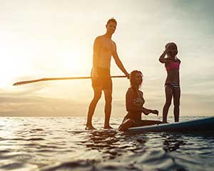 Group Stand Up Paddle Board Lesson, 90 Minutes - Noosa River