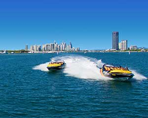 Jet Ski to Stradbroke Island and Jet Boating For 2 - Gold Coast