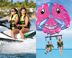 30 Minute Jet Ski Safari plus Parasailing - Gold Coast - For 2
