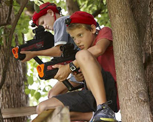 Home Delivered Laser Tag in a Box - Greater Brisbane - For 4