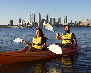 Kayak Hire, 1 Hour - Swan River, Perth - For 2