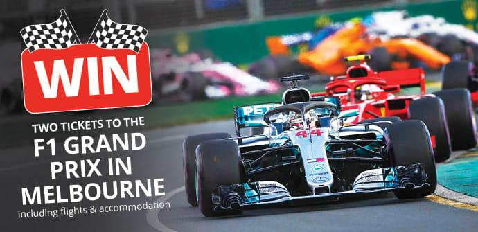 Win two tickets to the F1 Grand Prix in Melbourne!