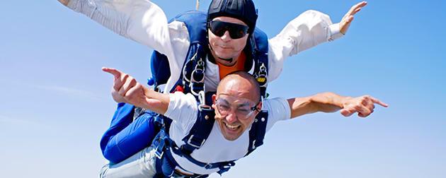 Dare Devil Dad Skydiving