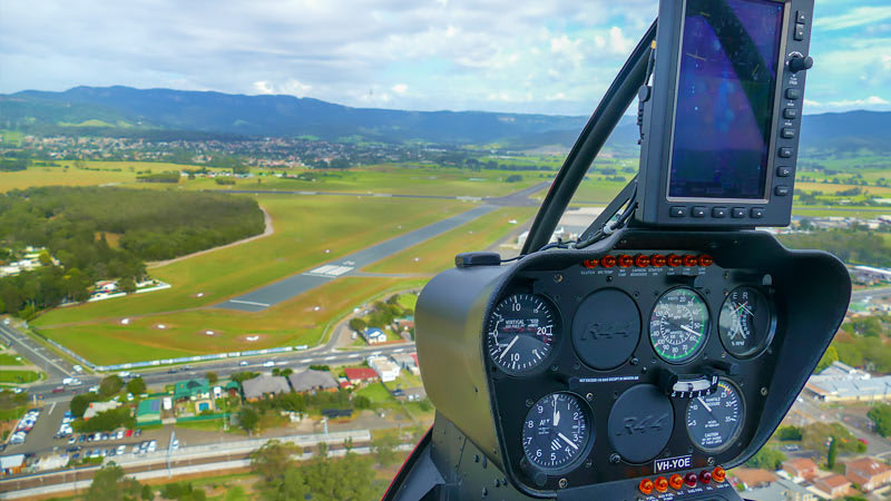 Helicopter Pilot Training Experience, 60 minutes - Wollongong