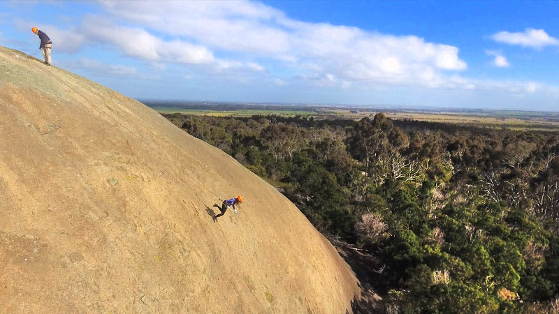 Forwards Abseil at the You Yangs