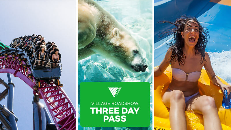 3 Day Pass: Warner Bros. Movie World, Sea World & Wet'n'Wild Gold Coast