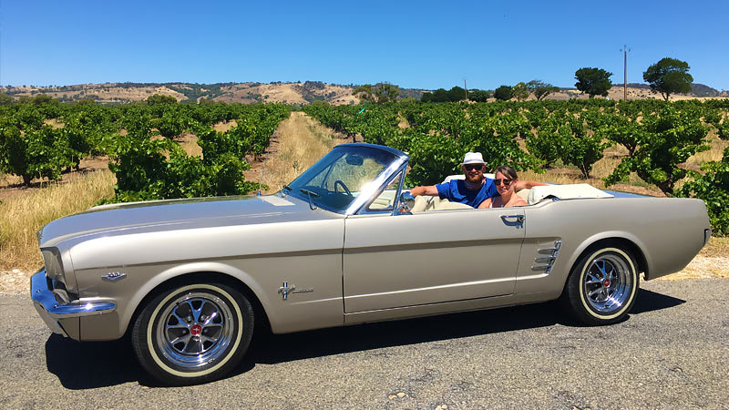 Barossa Uncut 3.5hr Mustang Convertible Tour for 2 - Barossa Valley