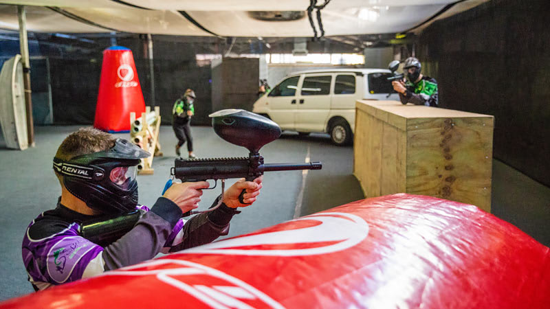 Indoor Paintball and Indoor Go Karting, Adrenaline Attack Pack, Groups of 8 - Sydney