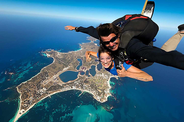 Tandem Skydive 10,000ft Over Rottnest Island & Ferry Pass - Fremantle
